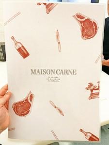 Menu Maison Carne Restaurante Barcelona