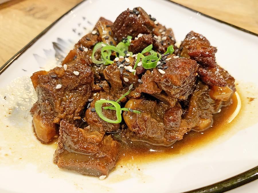 Restaurante chino Uniko Costillas agridulces o Táng cù xiǎo pái 糖醋小排