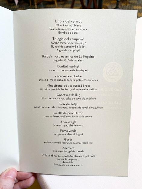 Menú Degustación L'Aliança 1919 d'Anglès