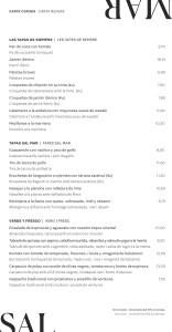 Menu Restaurante Sal Mar