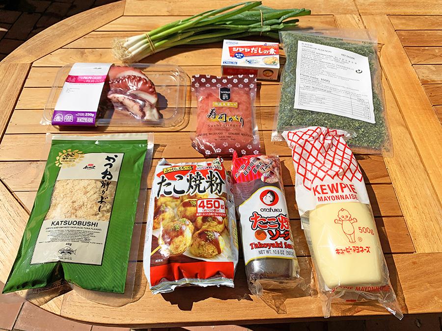 Ingredientes receta Takoyaki