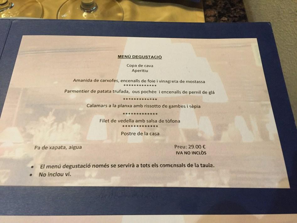 carta y menu del restaurante roma