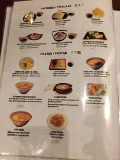 rakumi restaurante menu platos y carta
