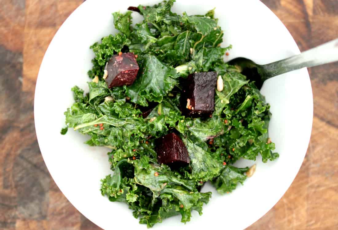 Kale Salad Recipe with Roasted Beets