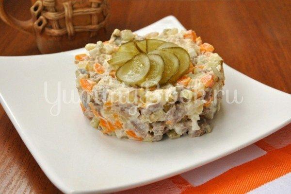 Салат с говядиной и солеными огурцами - простой и вкусный ...