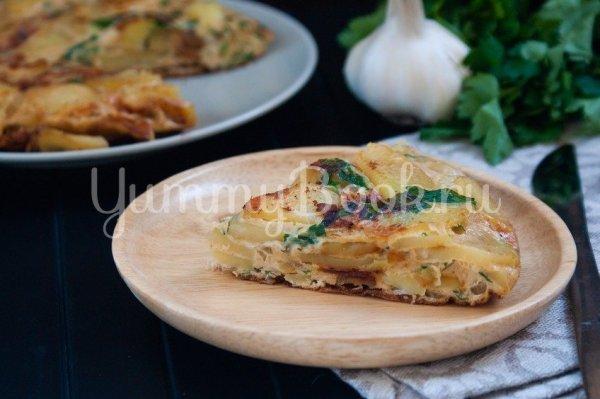 Картофельная тортилья - простой и вкусный рецепт с ...