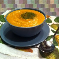 Creamy Vegetable Soup with Butter Sautéed Mushrooms