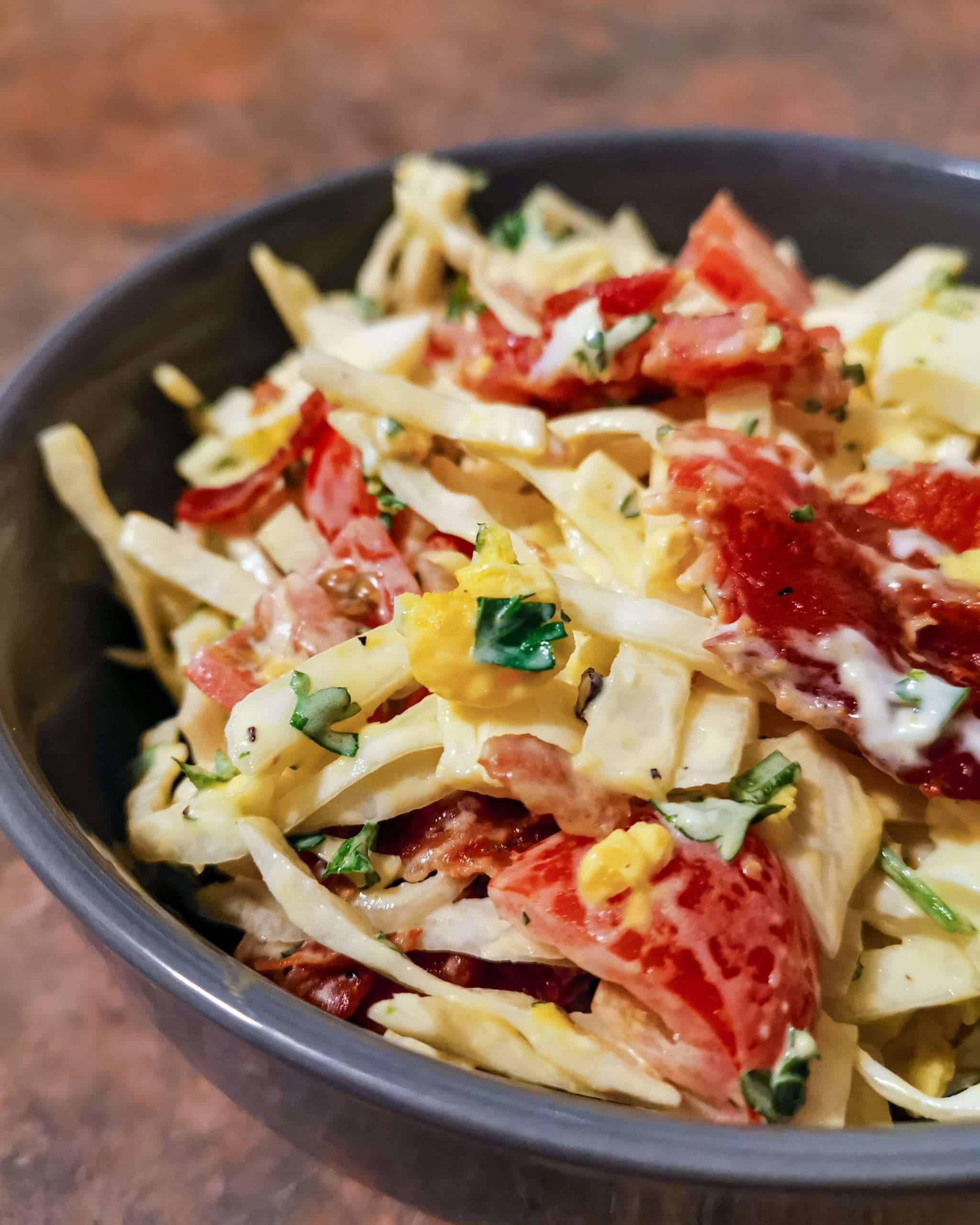 BLT Keto Coleslaw in a bowl