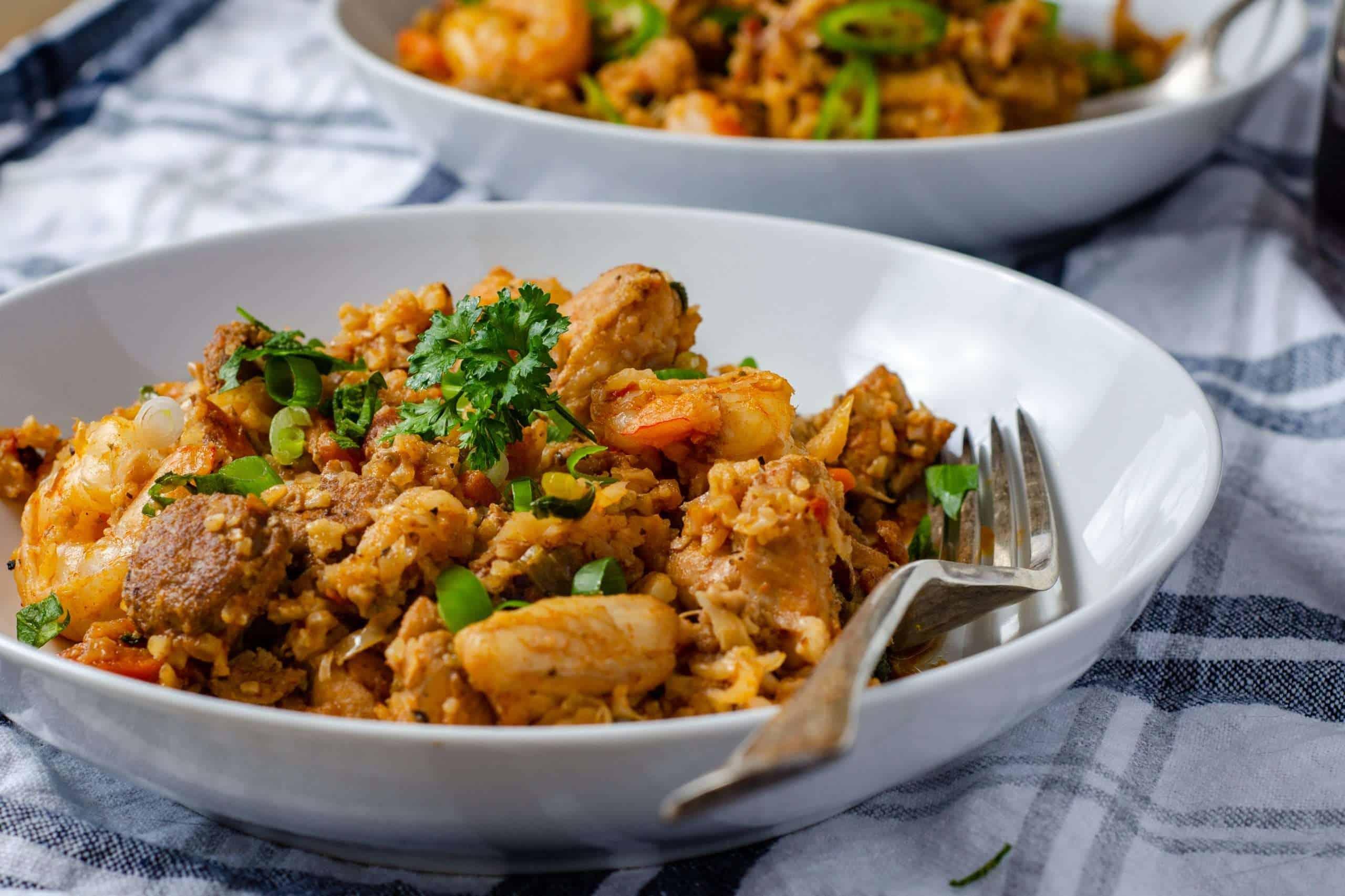 Low Carb Cauliflower Rice Jambalaya