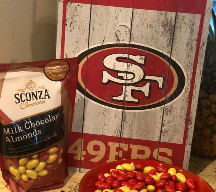 Free Game Day Chocolate Almonds