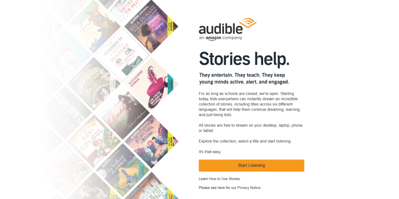 FREE Audible for Students Impacted by COVID-19
