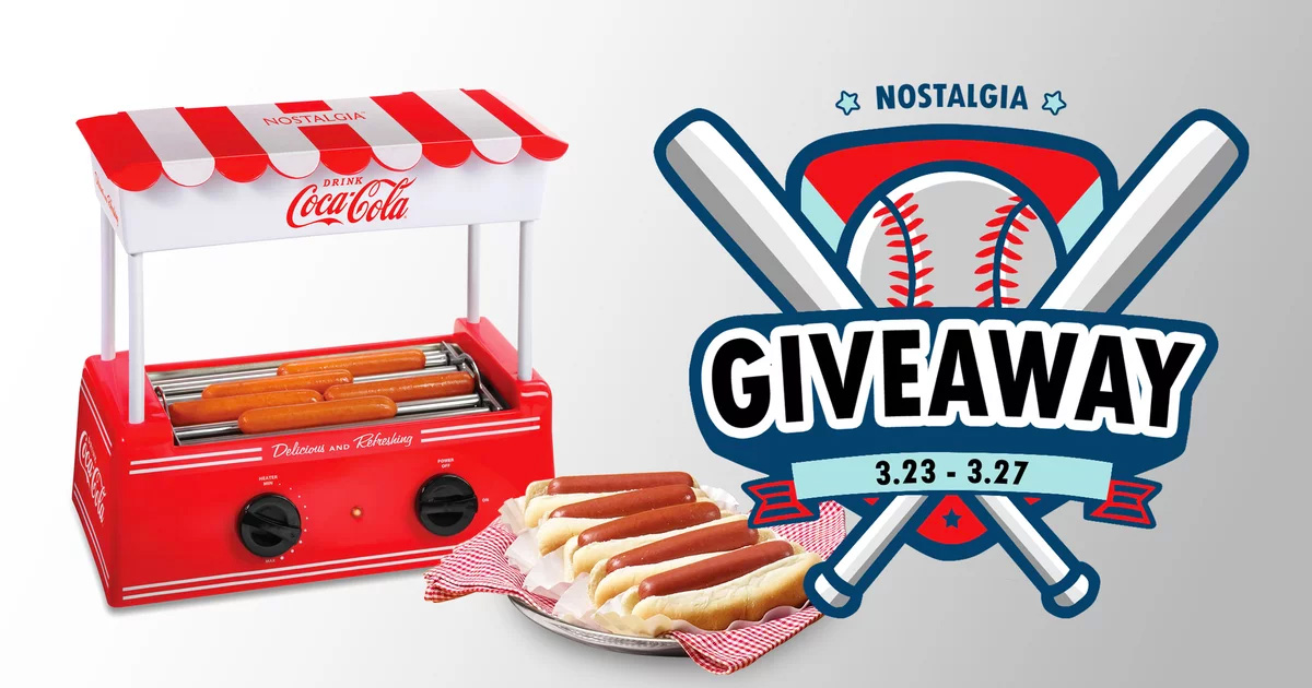 Nostalgia Hot Dog Roller Giveaway
