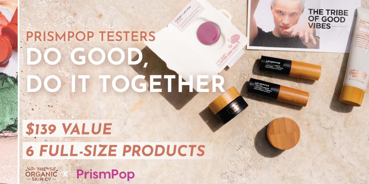FREE Organic Skin Co. PrismPop Tester Bag