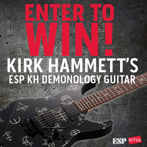 Kirk Hammett Guitar Giveaway