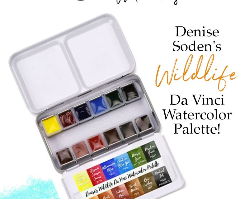 Denise Soden's Wildlife Da Vinci Watercolor Palette Giveaway