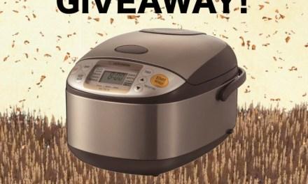 Marukan Vinegar Rice Cooker Giveaway