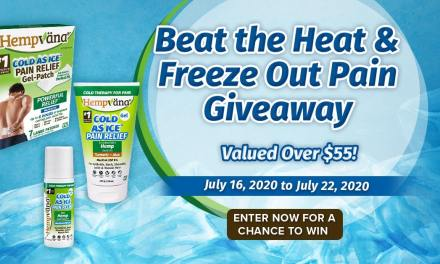 Beat the Heat and Freeze Out The Pain Sweepstakes
