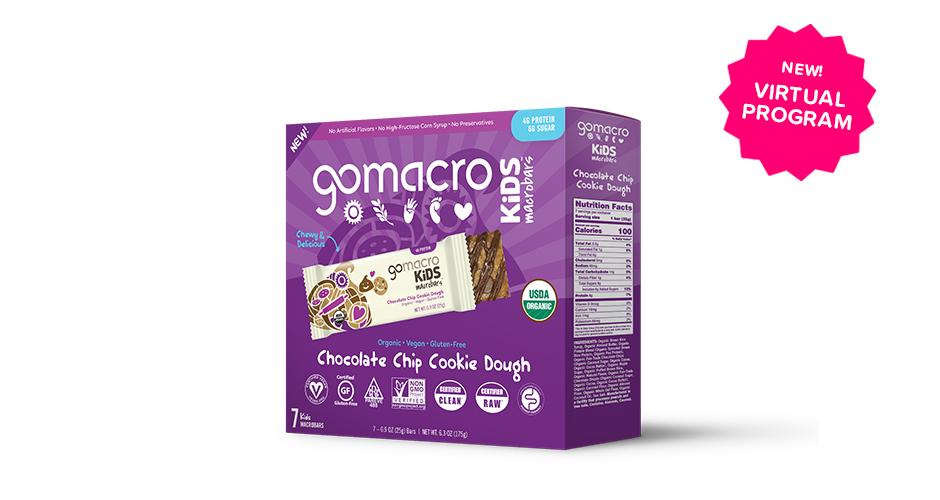 Free GoMacro Kids Chocolate Chip Cookie Dough MacroBars