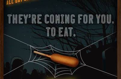 50¢ Corn Dogs at Sonic on Halloween