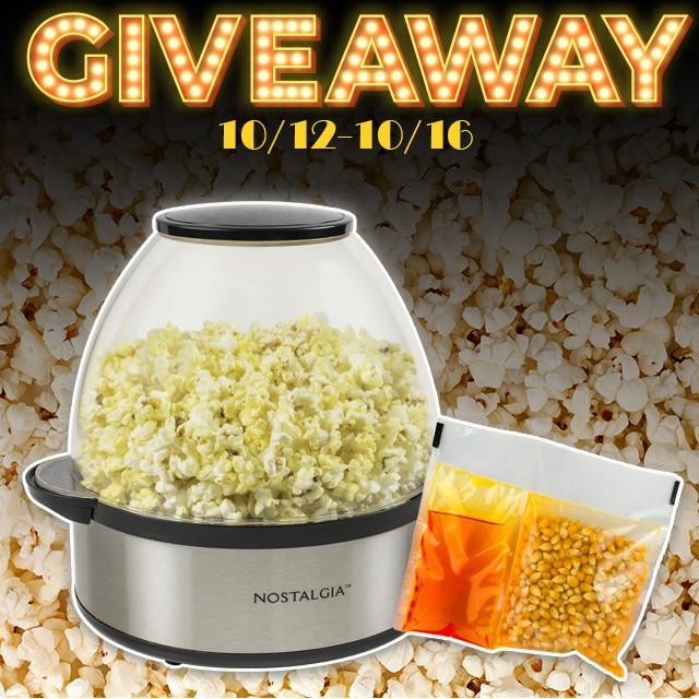 Nostalgia Stir Popper and Popcorn Kit Giveaway