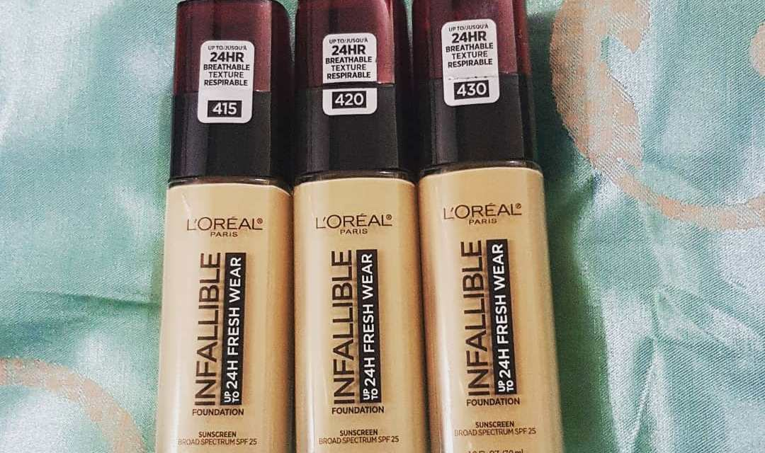 Free Sample of L'Oreal Infalliable Foundation