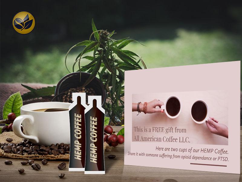 FREE All American Coffee Hemp Coffee Sample