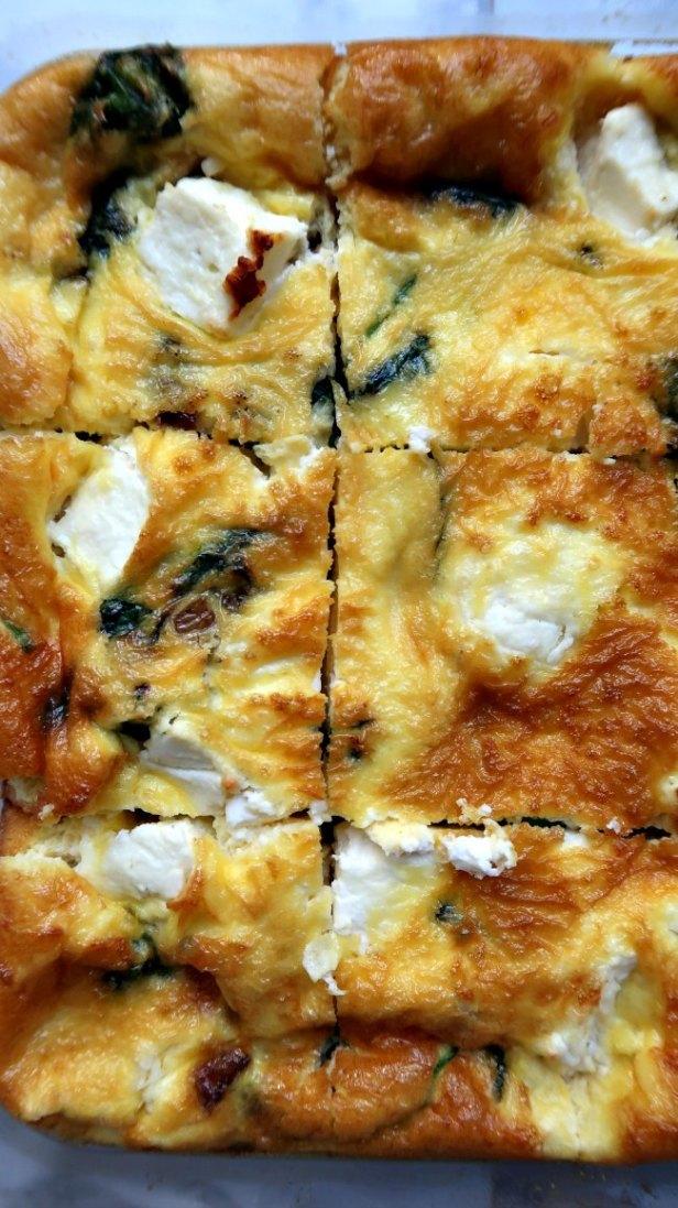 Keto Vegetarian Breakfast Casserole in a make ahead dish
