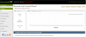 shopping cart admin panel pinnacle cart demo