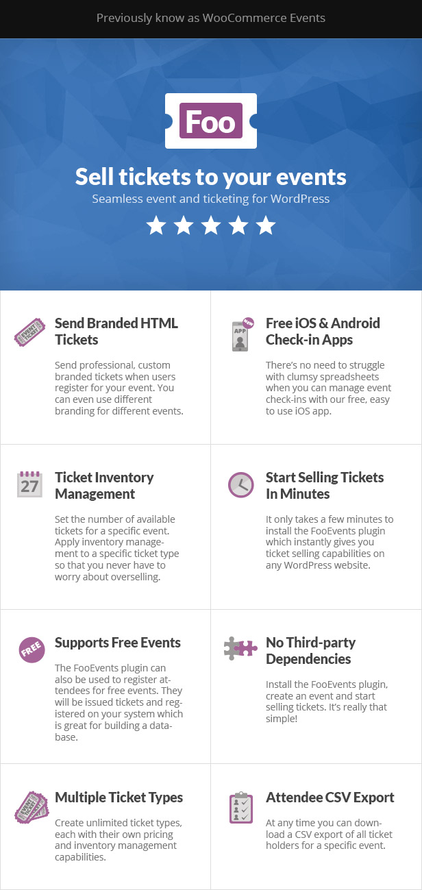 FooEvents Features