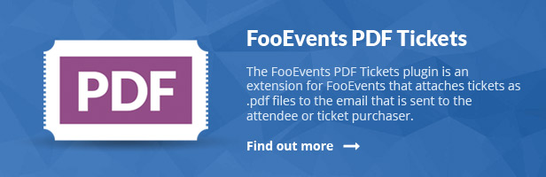 Event PDF Tickets