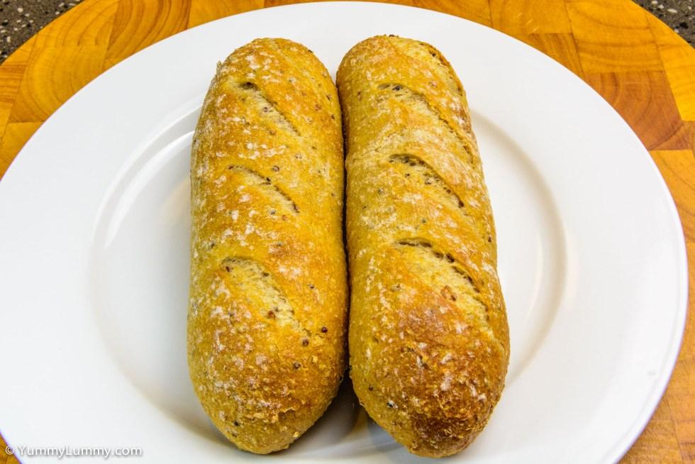 Wholemeal and quinoa pane di casa