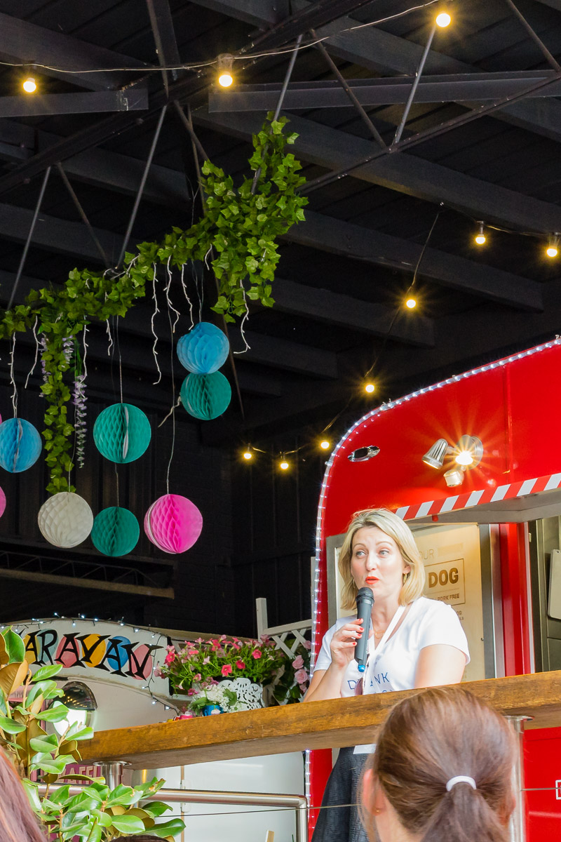 This is a photograph of Amanda Whitley of HerCanberra, the major sponsor of Eat Drink Blog 6 at The Hamlet