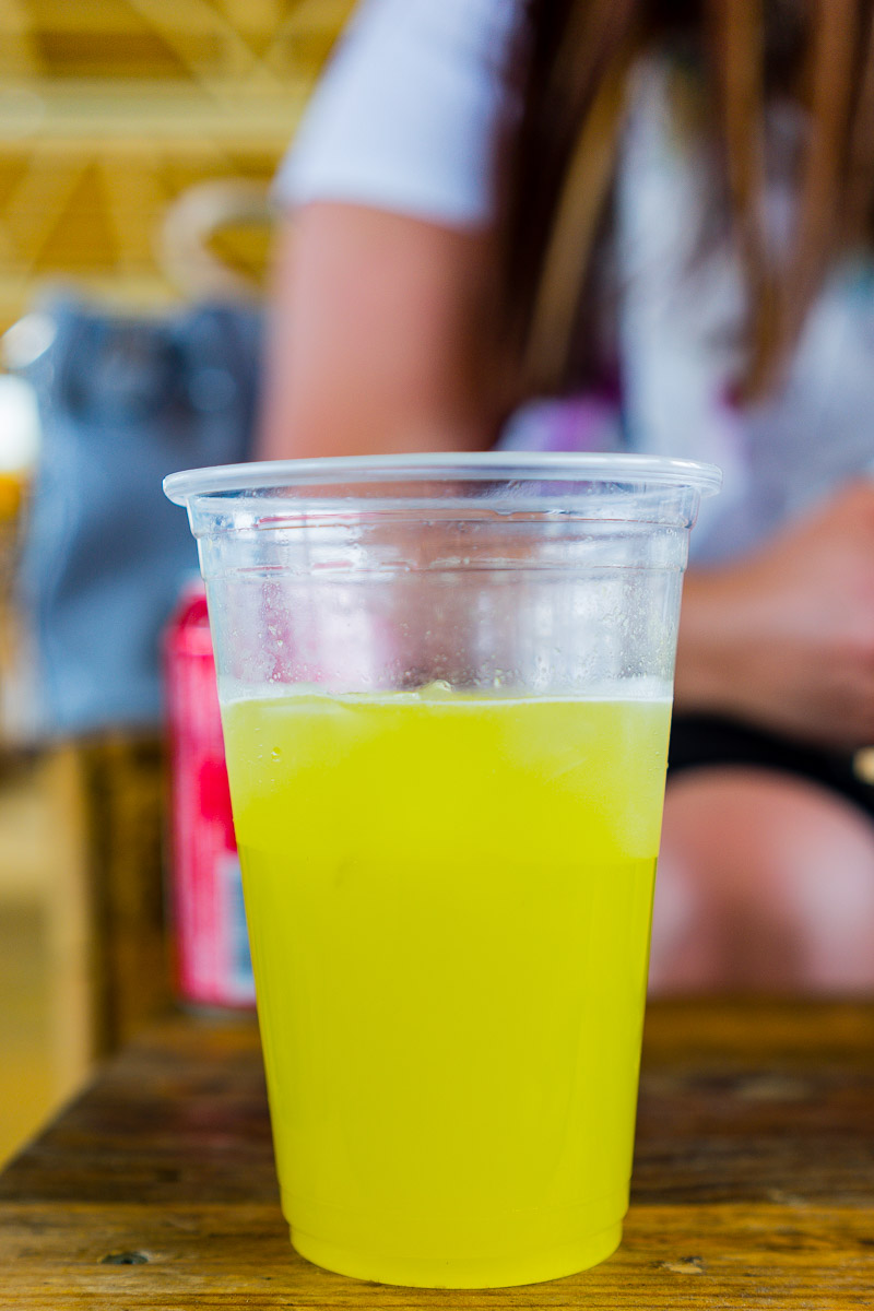This is a photograph of Sugar cane juice from Tin Can at Westside Acton Park