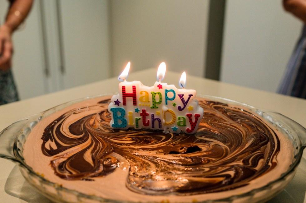 Nicola's birthday hazelnut chocolate cheesecake