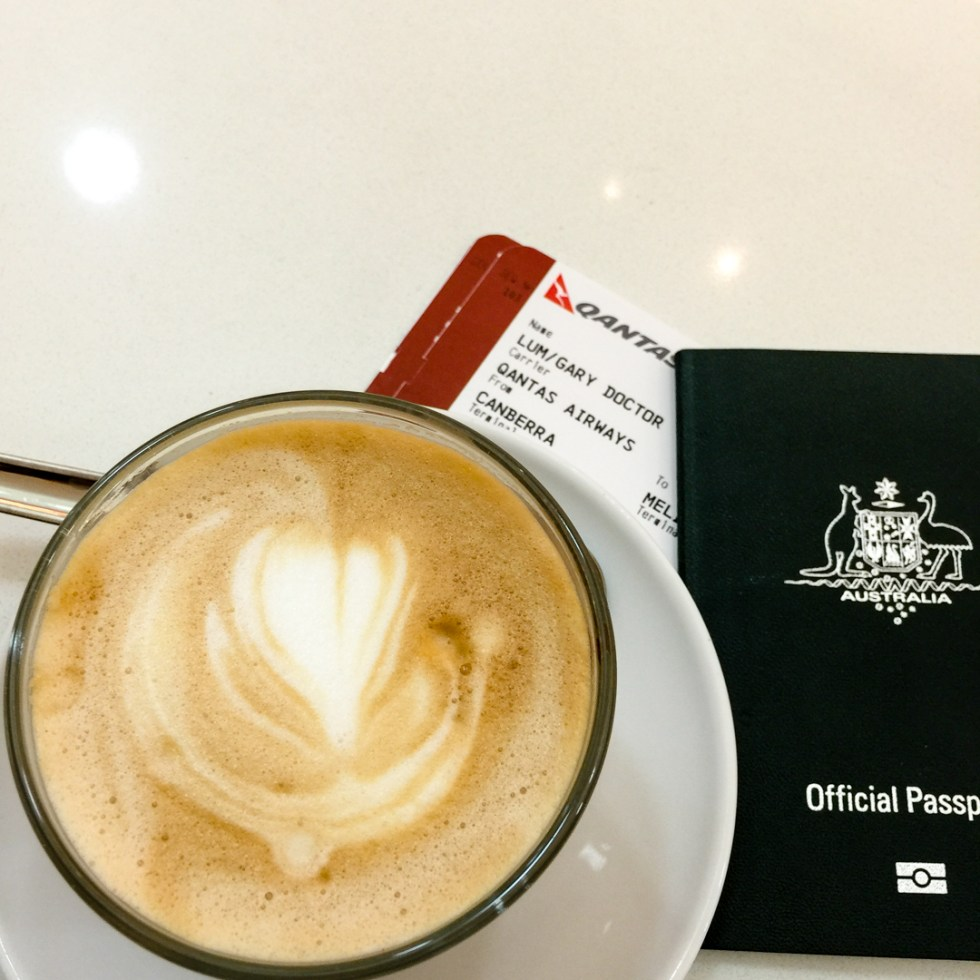 Coffee with my passport