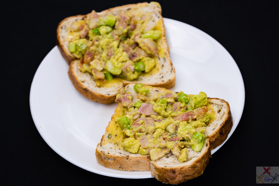 TGIF dinner. Bacon and avocado on toast. Gary Lum
