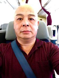 Me on board MH190 Delhi Gary Lum