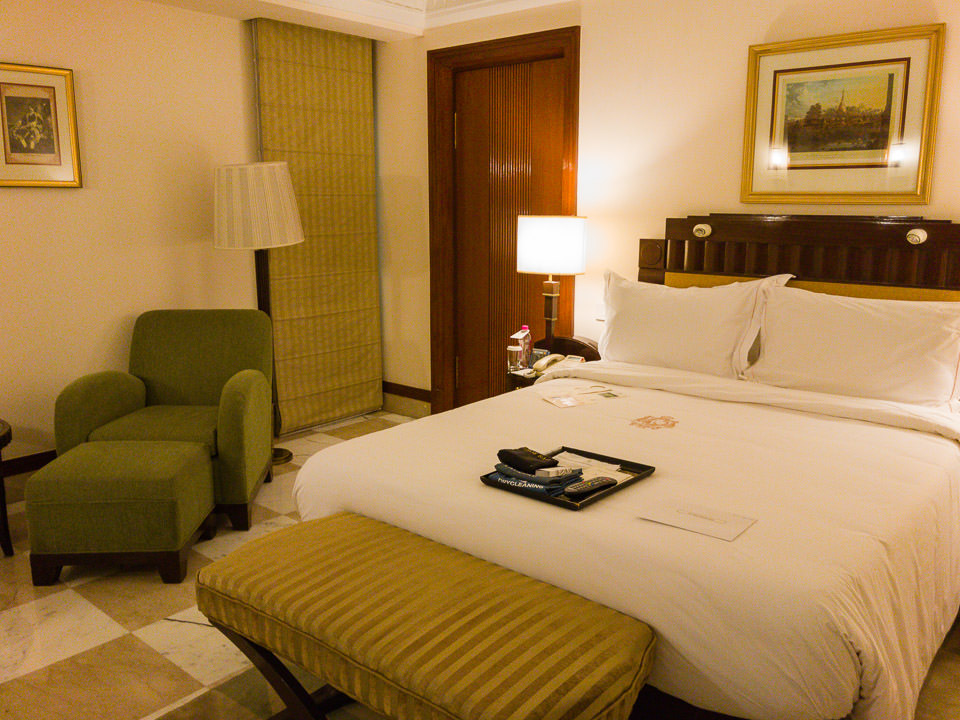 Room 265 The Imperial. After a long flight a bed is good. Delhi Gary Lum