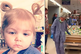 "Hospital staff sing ""Amazing Grace"" to baby on her final journey"