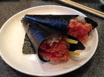 Spicy Maguro (Tuna) Temaki (Handroll)