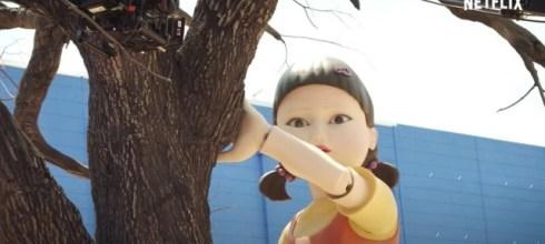 《魷魚遊戲》一二三木頭人的巨型娃娃竟然是真的!還有什麼小秘密一次公佈六大遊戲關卡幕後花絮!- 我們用電影寫日記