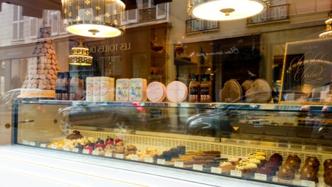The store front is carefully decorated so you can see all the pastries they sell.