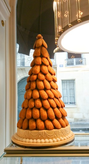 As if the place wasn't already filled with enough pastries, they made a madeleine tree.