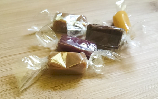 These were the best caramels I've had, ever. They were not gritty at all, and had a velvety smooth texture and great flavour. They come in a variety of flavours - nuts, fruits, chocolate etc.