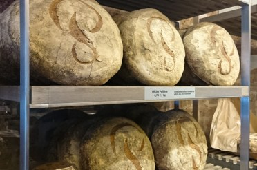 Signature Poilane Miche - each are handcrafted with the most traditional methods. It had a thick crust, good sourdough flavour and chewy crumb.