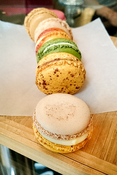Pierre Herme was the only place we bought macarons from. The shells and fillings had the perfect textures. I liked the chocolate hazelnut and ispahan.