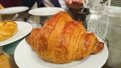 Vanilla croissant from Cafe Pouchkine. It was larger than the regular croissant, the inside had a very aromatic vanilla flavour, you can even see the vanilla seeds.