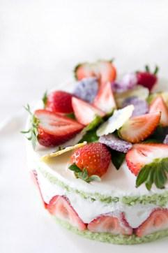Strawberry Basil Cake