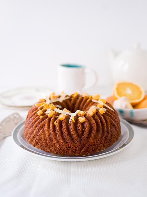Honey Persimmon Gingerbread Cake