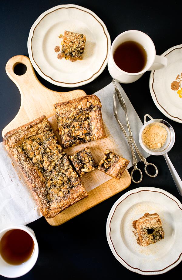 Sesame Caramel Kinako Butterscotch Squares